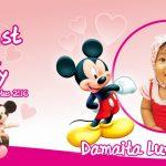 Design Undangan dan Mug Ultah Micky Mouse