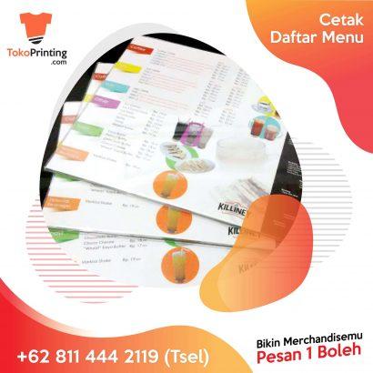 Cetak Daftar Menu Makassar