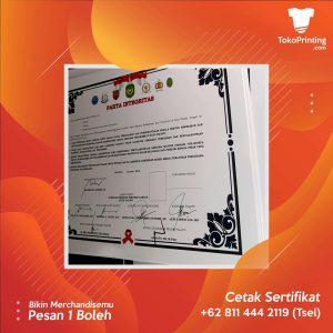Cetak Sertifikat Makassar